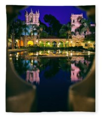 Balboa Park Reflections  Fleece Blanket