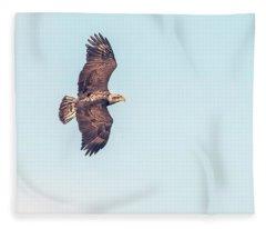 Bald Eagle 0834-121217-1cr Fleece Blanket