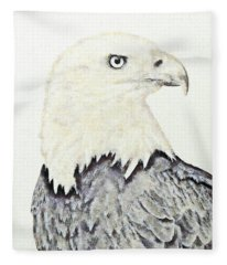 Bald Eagle. Fleece Blanket