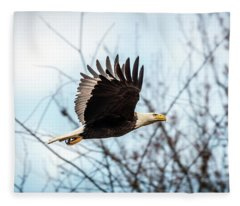 Bald Eagle Flight Fleece Blanket