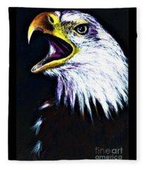 Bald Eagle - Francis -audubon Fleece Blanket