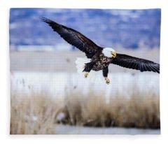 Bald Eagle Landing Fleece Blanket