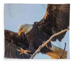 Bald Eagle Landing Fleece Blanket