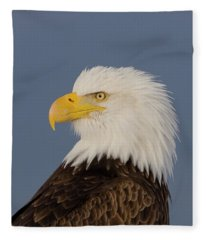 Bald Eagle Portrait Fleece Blanket