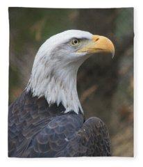 Bald Eagle Profile Fleece Blanket