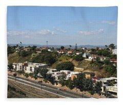 Baldwin Hills Over Stocker Street  Fleece Blanket