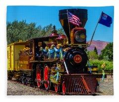 Baldwin Locomotive 22 Fleece Blanket