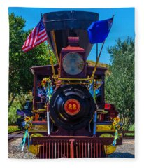 Baldwin Locomotive 22 Gingerbread Fleece Blanket