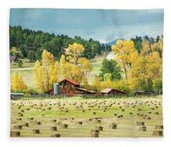 Bales And Aspen Fleece Blanket