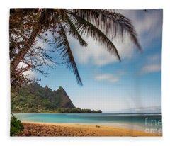 Bali Hai Tunnels Beach Haena Kauai Hawaii Fleece Blanket