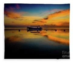 Magical Bali Sunrise Fleece Blanket