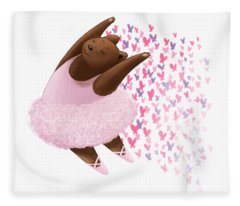 Ballet Bear Fleece Blanket