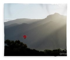 Balloon At Sunrise Fleece Blanket