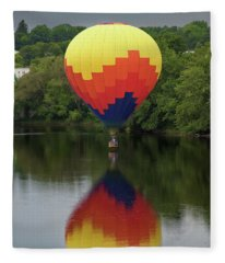 Balloon Reflections Fleece Blanket