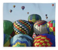 Balloon Traffic Jam Fleece Blanket