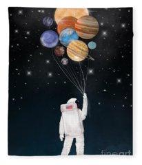 Balloon Universe Fleece Blanket