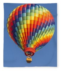 Ballooning In Color Fleece Blanket