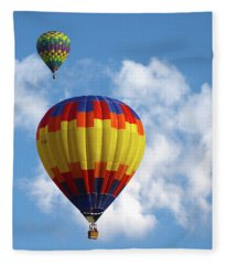 Balloons In The Cloud Fleece Blanket