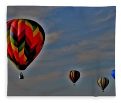 Balloons In The Sky Fleece Blanket
