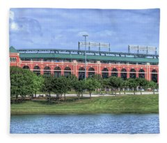 Ballpark In Arlington Now Globe Life Park Fleece Blanket