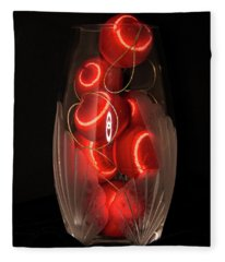 Balls In Crystal Vase Fleece Blanket