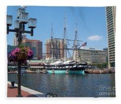 Baltimore Inner Harbor Fleece Blanket
