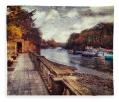 Balustrades And Boats Fleece Blanket