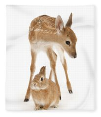 Bambi And Thumper Fleece Blanket
