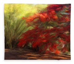 Bamboo And The Flamboyant Fleece Blanket