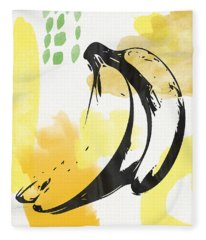 Bananas- Art By Linda Woods Fleece Blanket
