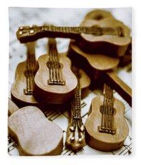 Band Of Live Acoustic Guitars Fleece Blanket
