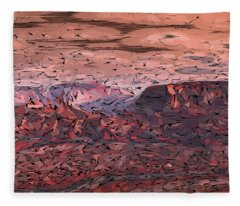 Banded Canyon Abstract Fleece Blanket