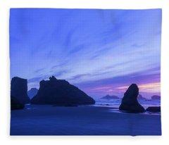 Bandon Blue Hour Fleece Blanket