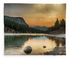Banff Sunrise Fleece Blanket