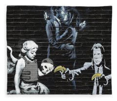 Banksy - Failure To Communicate Fleece Blanket