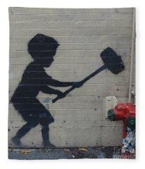 Banksy In New York Fleece Blanket