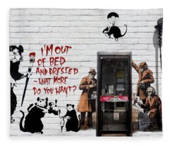 Banksy - The Tribute - Rats Fleece Blanket