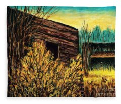 Bannack, Mt Ghost Town  Fleece Blanket