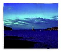 Bar Harbor, Maine Sunset Cruse  Fleece Blanket