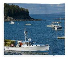Bar Harbor Tranquility Fleece Blanket