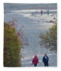 Bar Harbor Walk Fleece Blanket