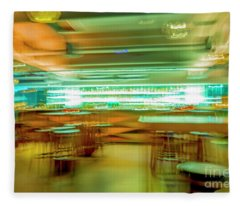 Fleece Blanket featuring the photograph Bar In Motion Blur by Mats Silvan