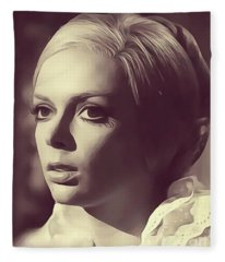 Barbara Steele Digital Art Fleece Blankets