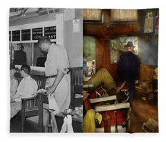 Barber - Cowboy Stories 1939 - Side By Side Fleece Blanket