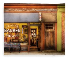 Barber - Towne Barber Shop Fleece Blanket