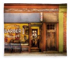 Barber - Towne Barber Shop Fleece Blanket