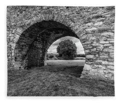 Barbican Gate Trim Castle Fleece Blanket