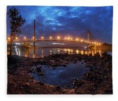 Barelang Bridge, Batam Fleece Blanket