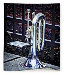 Baritone Horn Before Parade Fleece Blanket