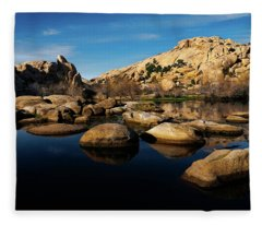 Barker Dam Lake Fleece Blanket
